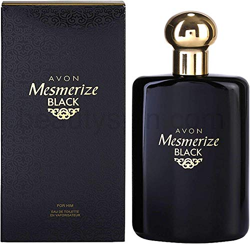 Avon Mesmerize Black Eau de Toilette Spray für Herren, Original Intensiver Duft, 100 ml