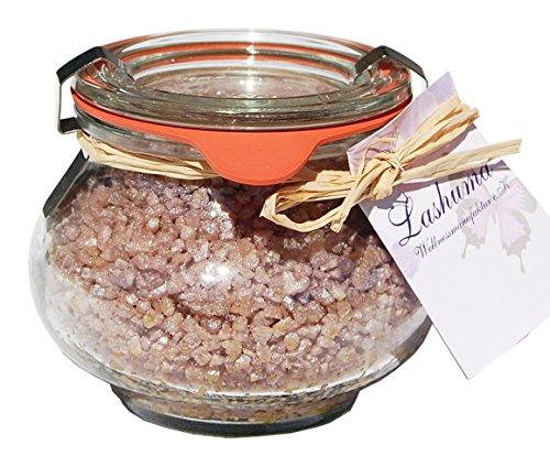 Lashuma Tote Meer Salz Badezubehör Schokolade, Badezusatz im Weck Schmuckglas 250 g, Duftendes...