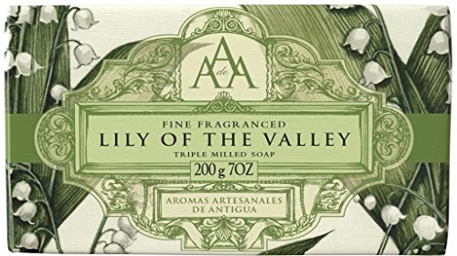 Aromas Artesanales De Antigua Floral Lily Of The Valley Triple Milled Soap Bar 200g