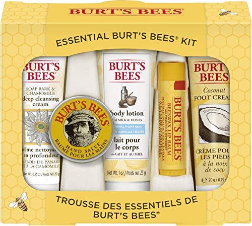 Burt's Bees Geschenkset, mit 5 Produkten in Reisegröße - Tiefwirksame Reinigungscreme, Handcreme,...