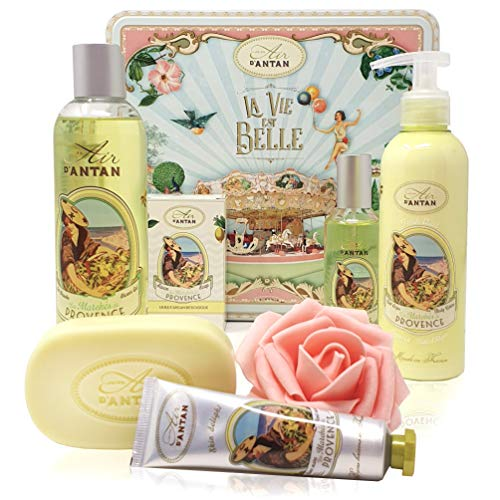 Un Air d'Antan - Beauty Box Set PROVENCE 5 Produkte: 1 Duschgel 250ml, 1 Handcreme 25ml, 1 Seife...