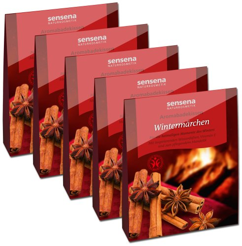 Naturkosmetik Aromabadekissen Vorteilspack'Wintermärchen', 5x 60 g