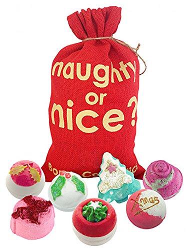 Bomb Cosmetics Naughty or Nice Geschenkset Sack Badekugel Badebombe Weihnachten X-Mas (1x 7 Stück)