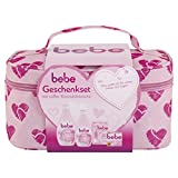 bebe Geschenkset mit Kosmetiktasche, Bodylotion (400 ml), Duschgel (250 ml), Gesichtscreme (50 ml),...