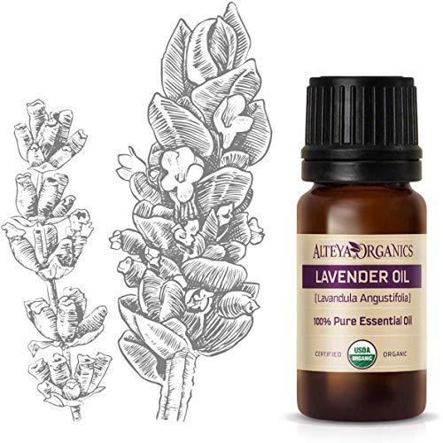 Alteya Bio Lavendelöl (Echter Lavendel) 10ml – 100% USDA Organic-zertifiziert Rein Natürlich...